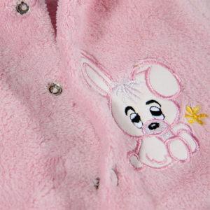 Rozi uspvani zeko zimskog kombinezona za bebe