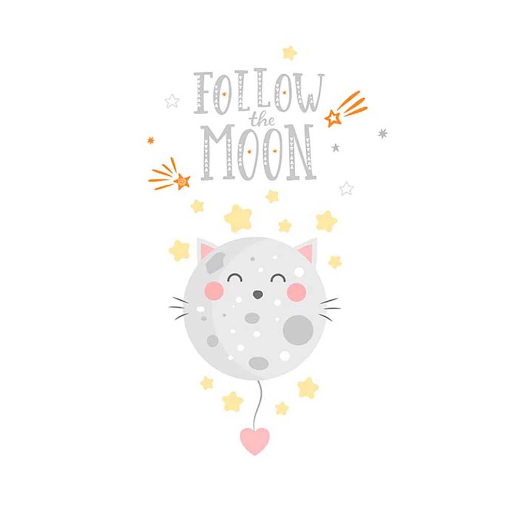 Follow the moon ilustracija na tetrici za bebe