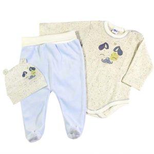 Plavi plišani komplet za novorođenčad