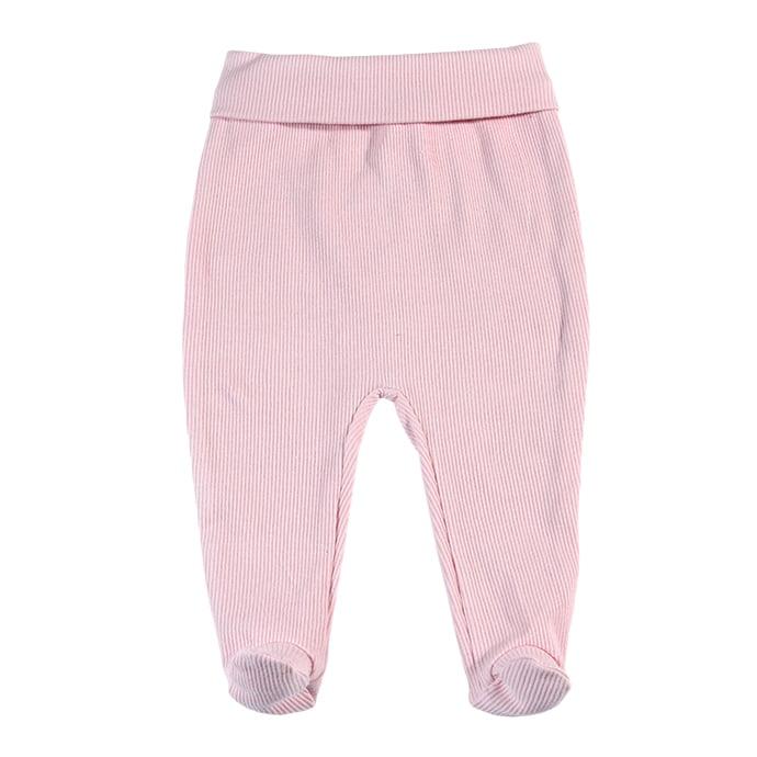 Roze pamučne gege za novorođenčad