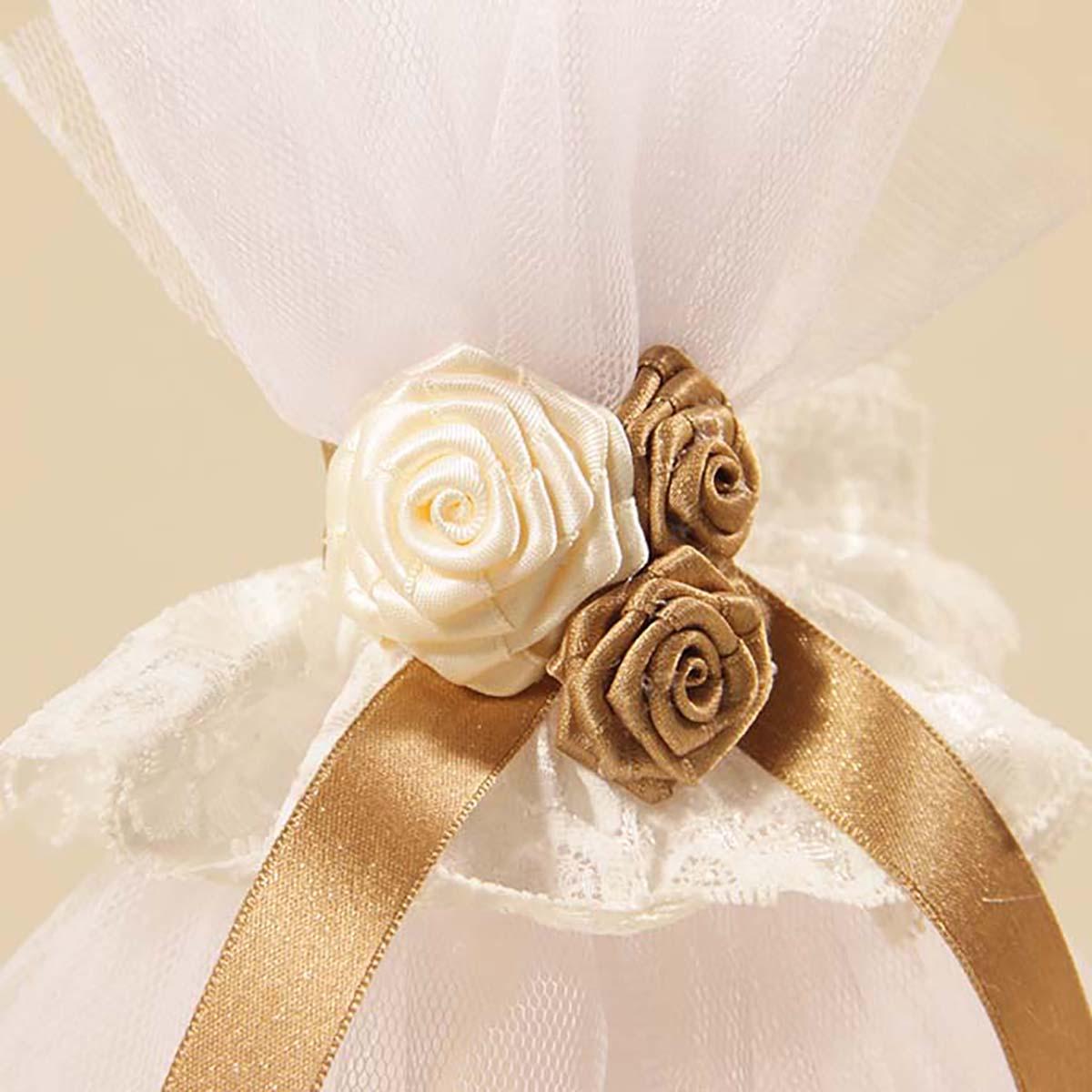 ručno rađeni cvjetni ukrasi Goldie angel svijeće