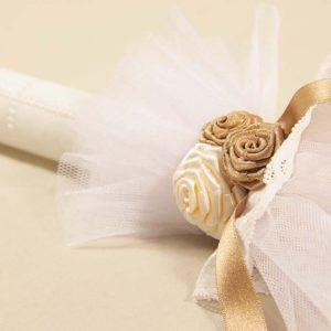 Goldie angel detalj ručno ukrašene svijeće