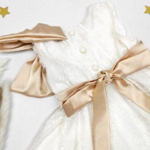 goldie haljina sa zlatnim satenom
