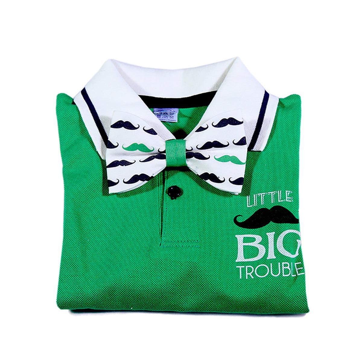 brko polo zelena majica s printom