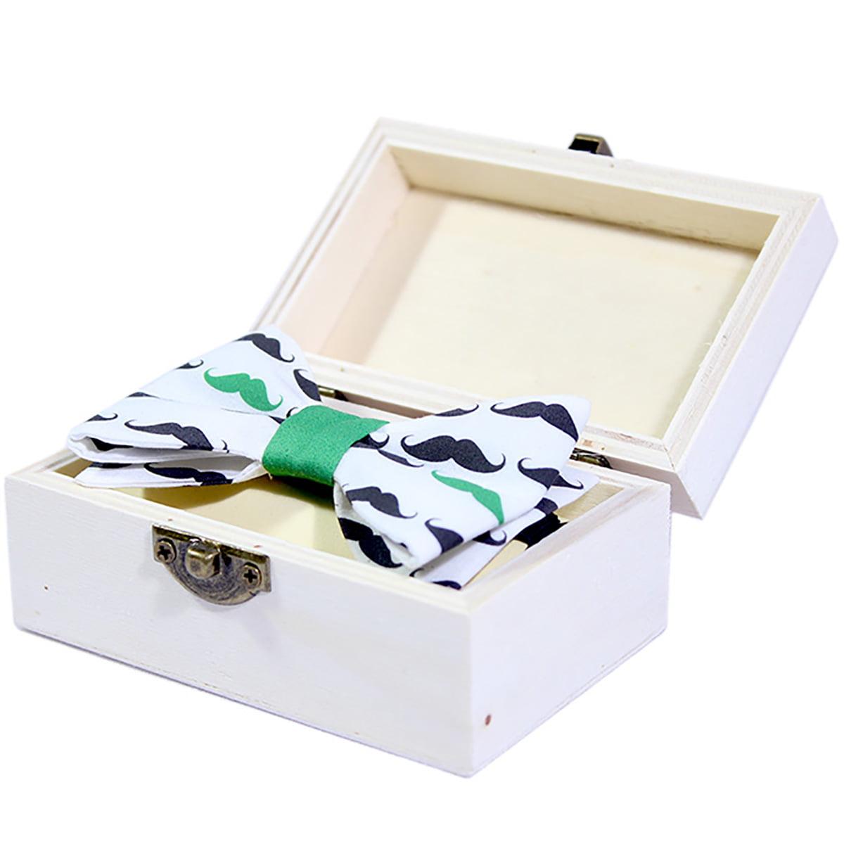 Green mustache dječja leptir mašna u poklon kutiji