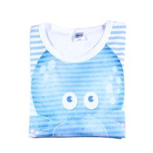 Print hobotnice na bijeloj majici