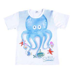 Hello summer bijela majica s printom
