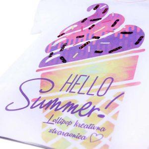 hello summer veliki sladač na majici