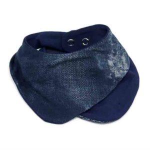 Jeans slinček podbradak za bebe plavi