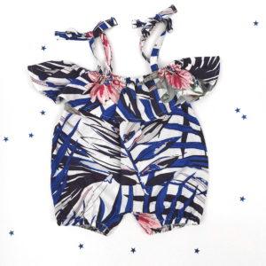 Jungle plavi romper kombinezon za bebe i djebvojčice
