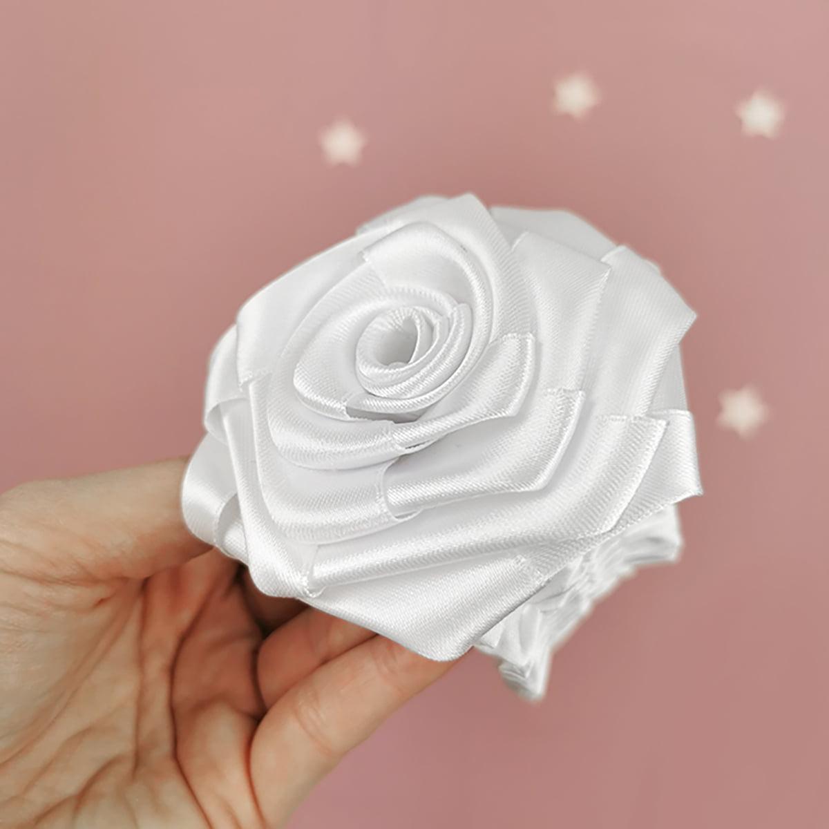 bijela kala ručno rađeni cvijet za trakicu
