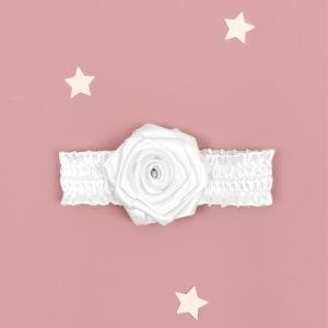 bijela satenska trakica Kala za bebe