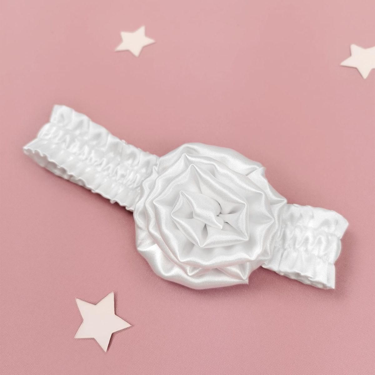 cvjetna bijela trakica Kala za bebe