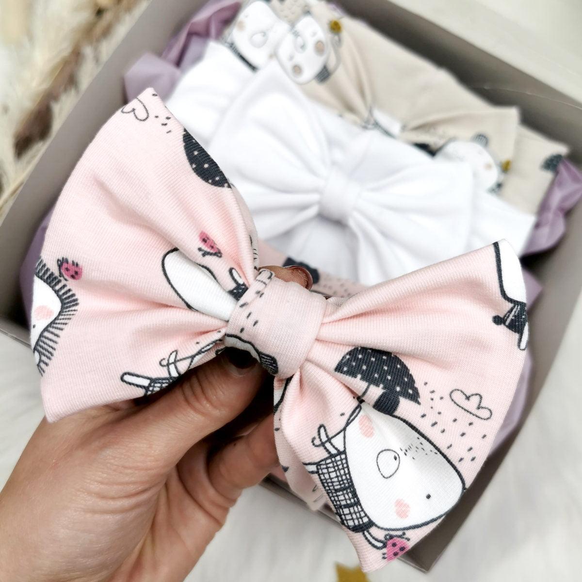 nježni rozi uzorak kawaii trakice za bebe