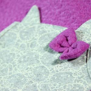 mašnica na džepu Kitten roze tunike