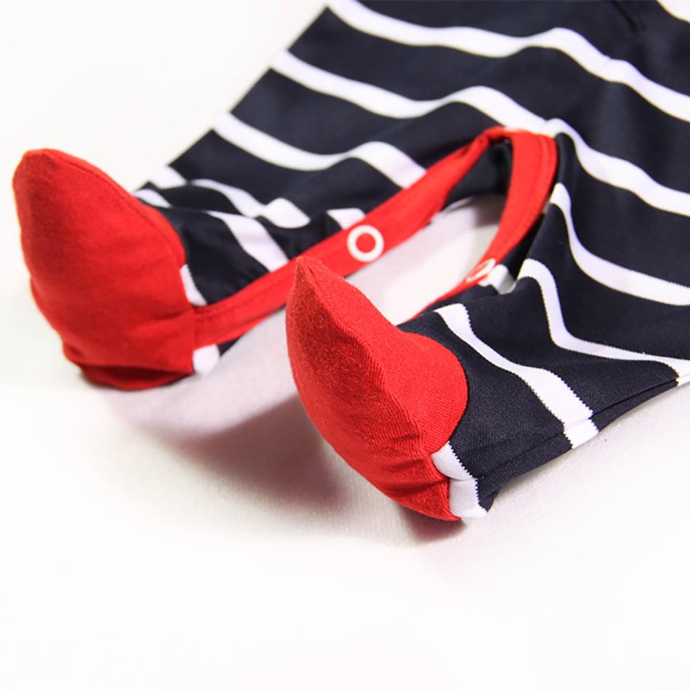 prugasti kombinezon sa stopalicama za bebe