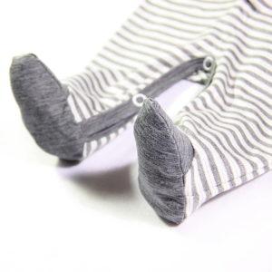Sivi kombinezon za bebe sa stopalicama