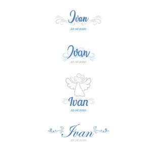 natpisi za personaliziranu krsnu košuljicu za dječaka