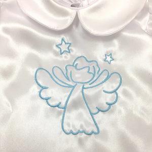 krsna košuljica s plavim anđelom detalj