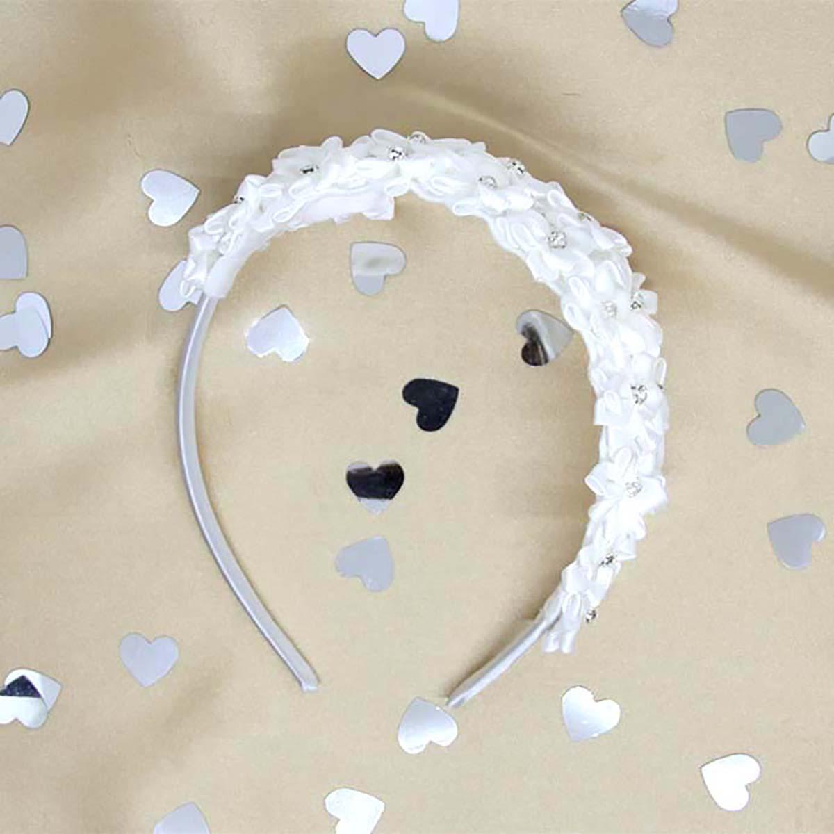 Bouquet svećani bijeli rajf za kosu
