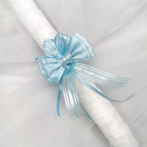 Plava mašna na krsno svijeći lace guardian