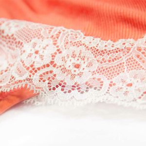 Čikani obrub ljetne narančaste haljine