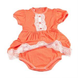 Narančasta bodi haljina ljetna