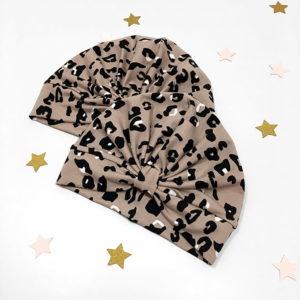 topla kapa turban u leopard uzorku za bebe i djevojčice