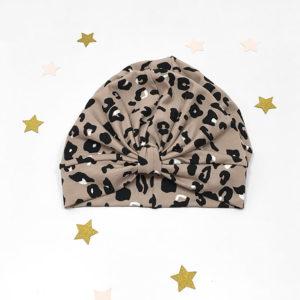 leopard turban kapa za bebe, djevojčice i mame