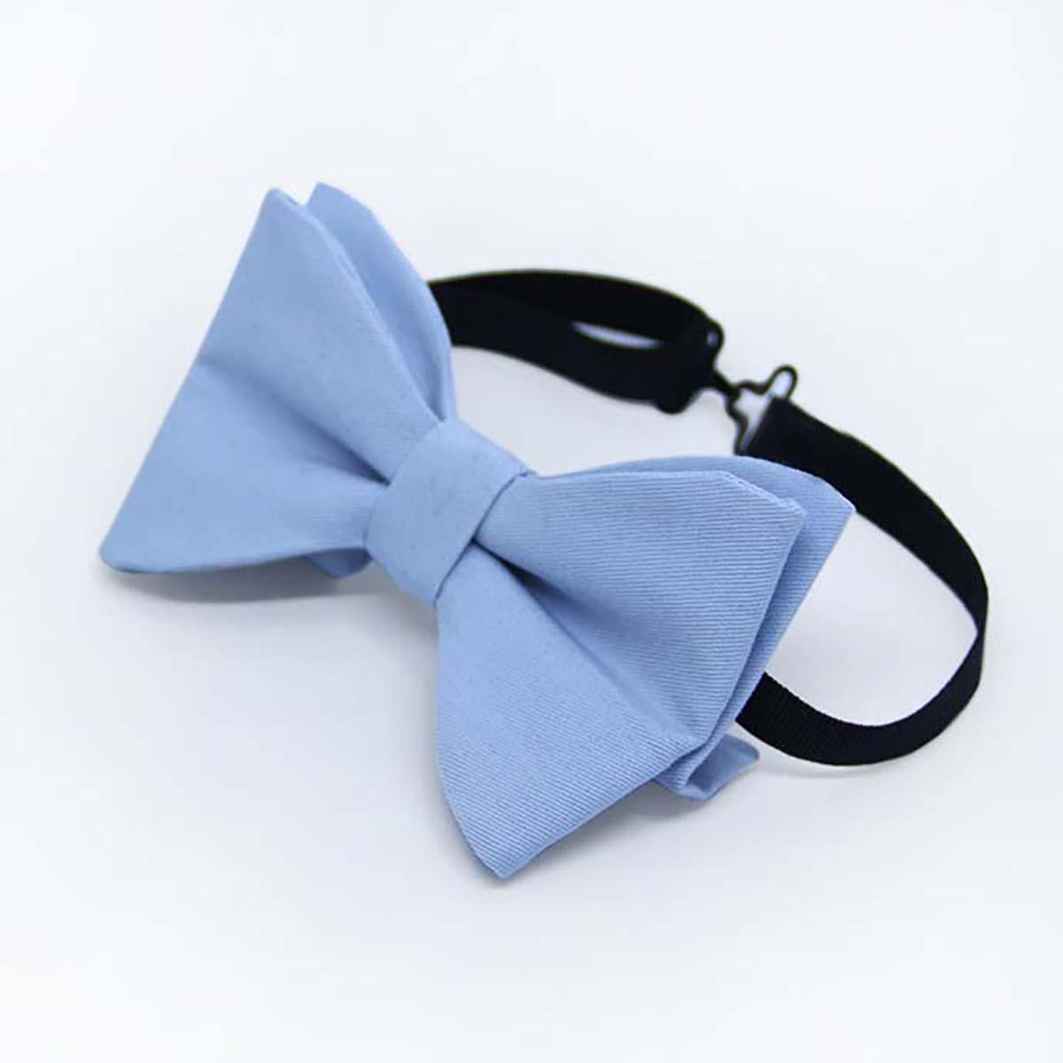 light blue leptir mašna za djecu i odrasle