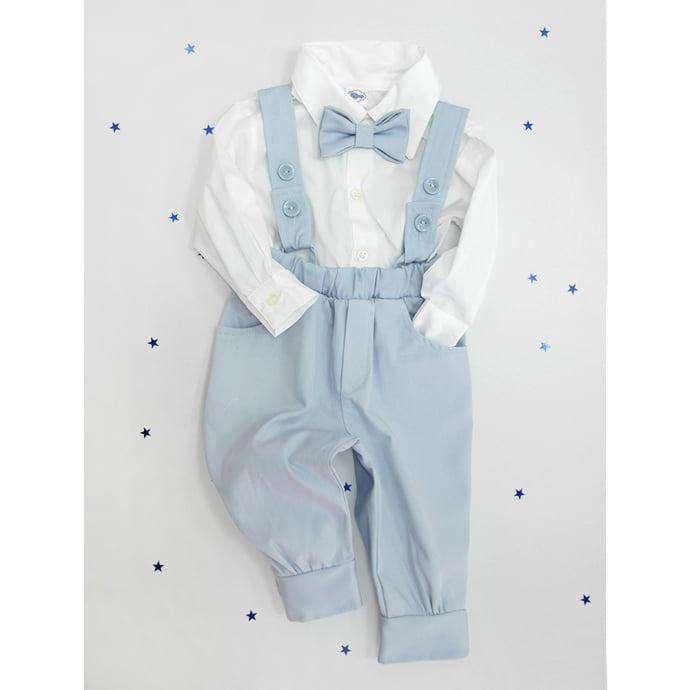 svijetlo plavo odijelo za krštenje