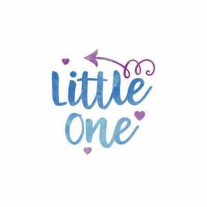 Little one ilustracija na tetra peleni za bebe