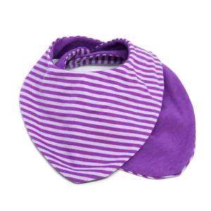 Ljubičaste prugice slinček marama za bebe