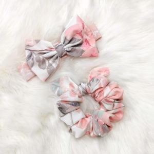 LU cvjetna trakica u kompletu sa scrunchie gumicom