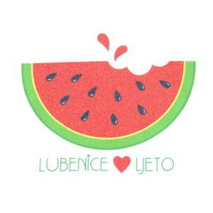 lubenice vole ljeto ilustracija