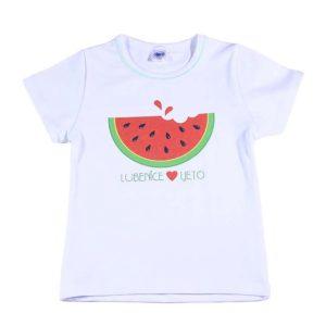 bijela majica s printom lubenice