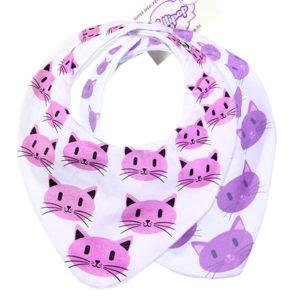 Pamučni slinčeki s printom maca za bebe