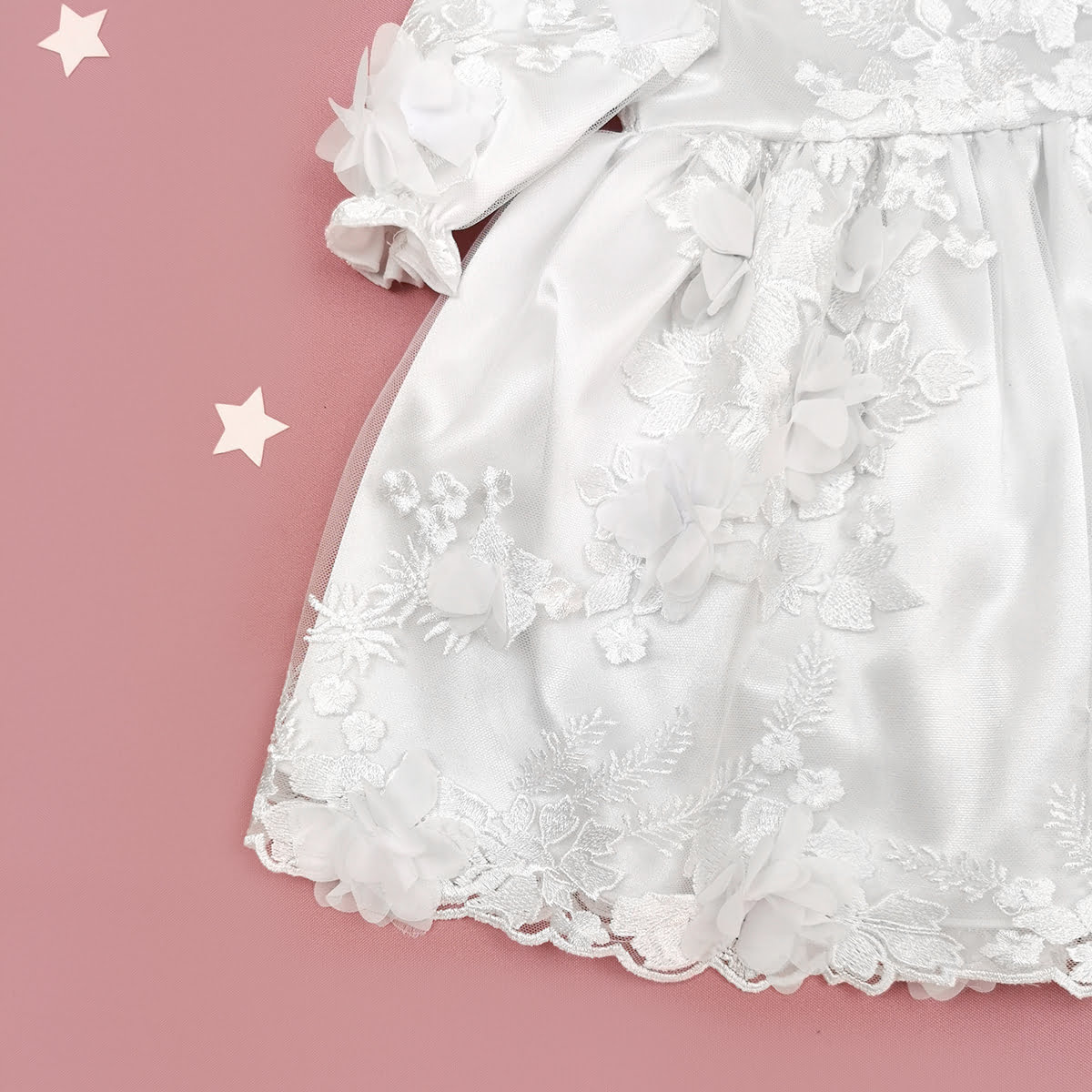 detalji cvjetne haljine za krštenje Magnolia