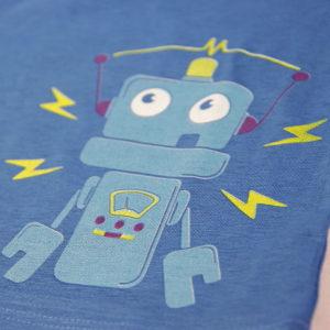 mali robot zubo plava majica