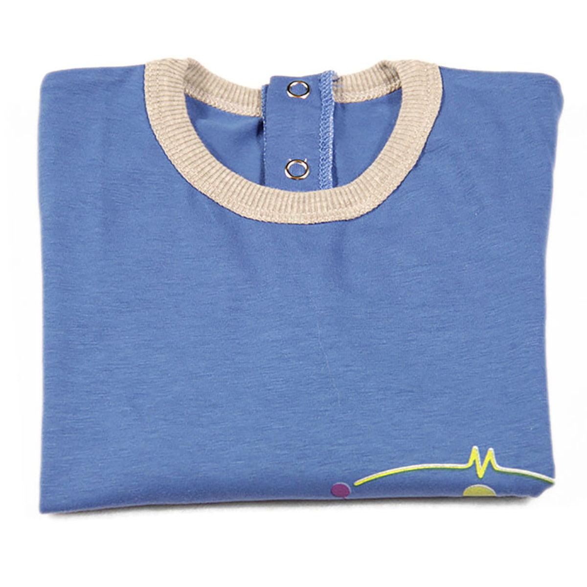 plava majica za bebe malik robot