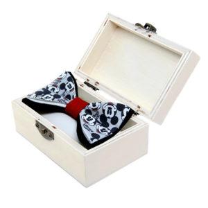 Mickey in red leptir mašna s printom u kutiji