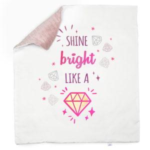 Diamond minky roza deka
