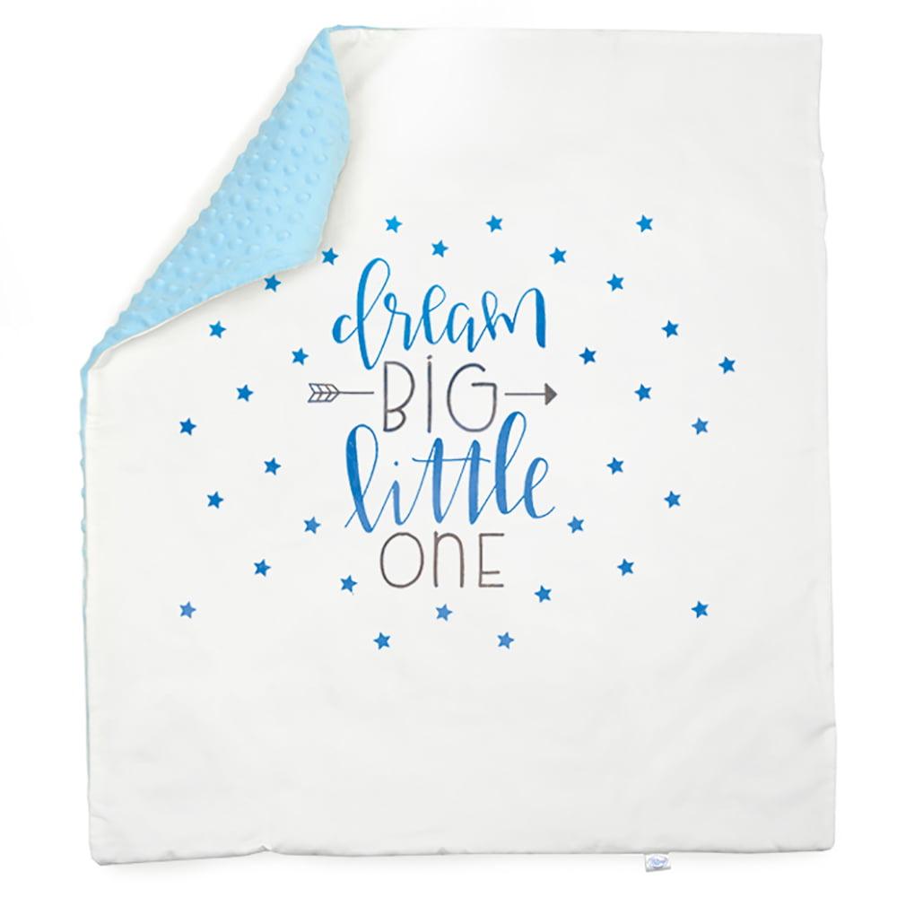 Dream big plava minky deka