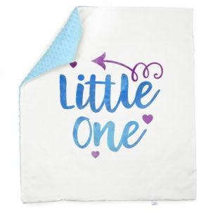 Little one plava minky deka