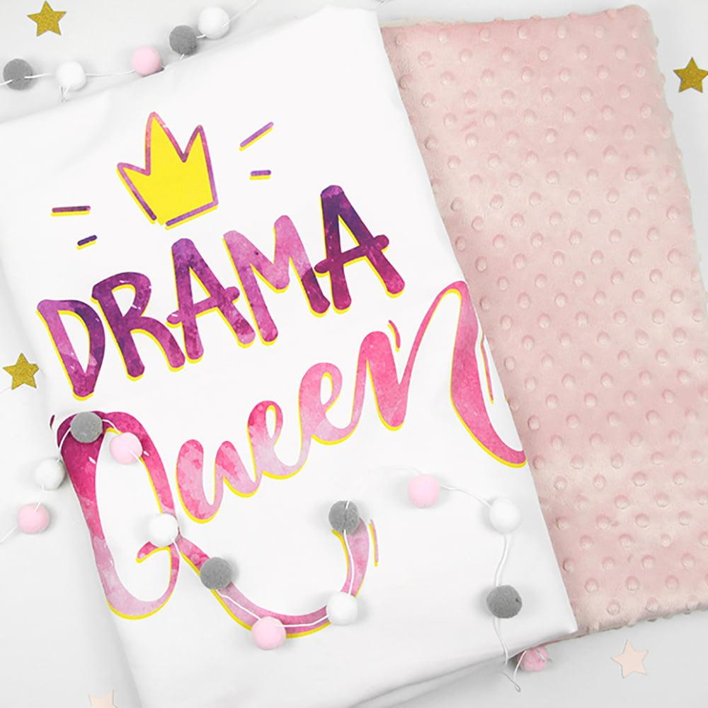 Drama Queen roza ilustracija