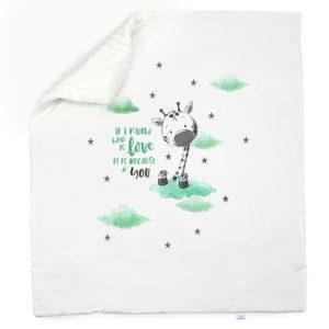 Minky dvoslojna bijela deka