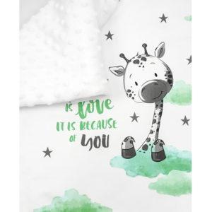 Ilustracija žirafe na baby deki