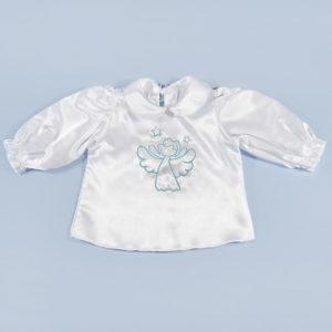 krsna košuljica s plavim anđelom