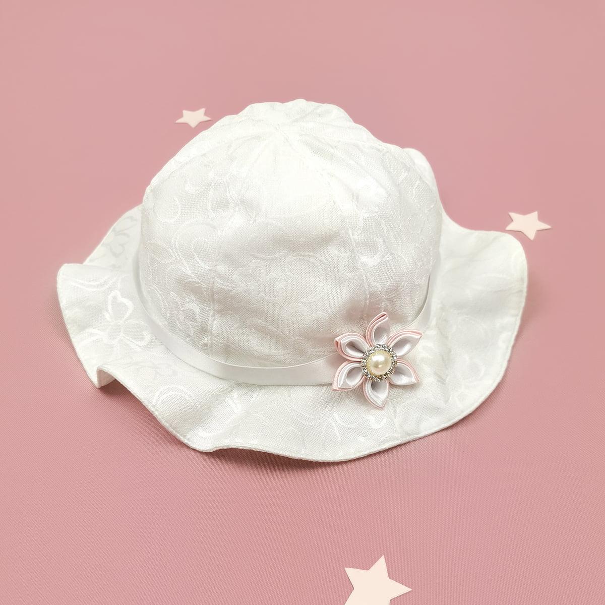 šeširić Morning rose kompletića za krštenje rozi