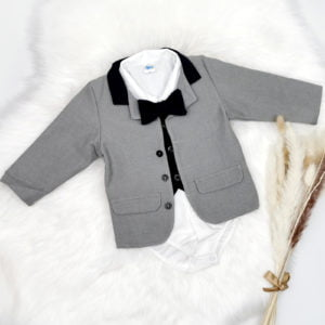elegantan sivo plavi komplet za dječake